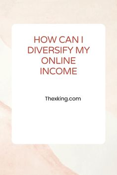 How can I diversify my income if I work a 9 to 5 job?