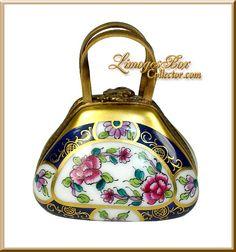Floral Ladies' Handbag Limoges Box (Rochard)