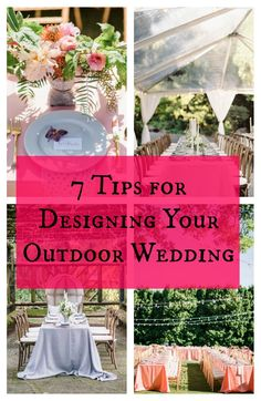 We have got the key to designing a successful and beautiful outdoor wedding! These tips will give you inspiration for making your big day one for the books!