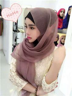 >> Click to Buy << CJ55  Fashion Silk  Soild  Elegant beautiful muslim women  muslim hijab silk hijab scarf shawl #Affiliate