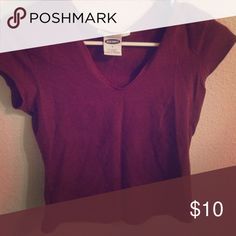 Cute Maroon Tee!! Maroon Tee from Old Navy! In great condition! Perfect for an everyday casual tee! Old Navy Tops Tees - Short Sleeve