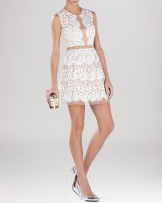 Bcbg lace dress bloomingdales
