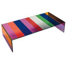 Table basse The Dark Side of the Moon 155 x 55 cm Verre multicolore - Glas Italia