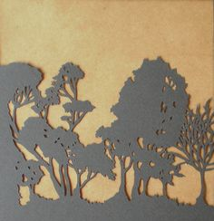 silhouette woodland animals - would look great baked onto a mug or plate