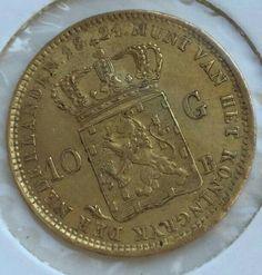 Nederland - 10 gulden 1824B Willem I - goud