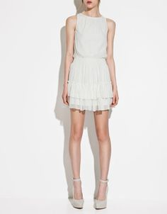 DRESS WITH FRILLED SKIRT - Dresses - TRF - ZARA