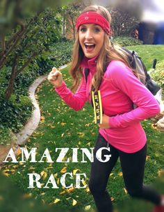 Amazing Race Halloween Costume. The easiest and comfiest costume ever! Great for couples. #Halloween #couplescostume