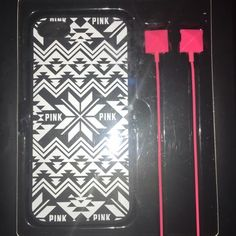 VS PINK IPhone 5 / 5s Phone case and headphones Accessories Phone Cases