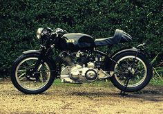 This Vincent cafe racer was built by a friendly guy by the name of Phil Lemon, he shot me over an email last week and casually...Vincent cafe racer..