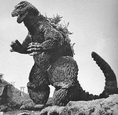 Godzilla, who was based off a Tyrannosaurus Rex, Stegosaurus, and a Iguanadon. He is a prehistoric monster awoken by nuclear radiation.