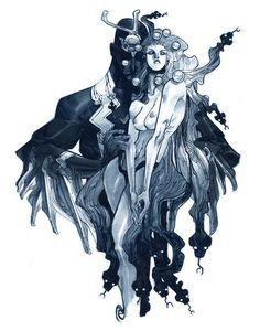 Black Bolt & Medusa by Eric Canete