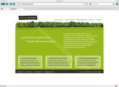 Webbisivuja olen tehnyt useita kymmeniä. Joitakin rakenne- ja konseptisuunnittelusta lähtien, joitakin pelkillä teksteillä höystäen. Yksi suosikkiasiakkaistani on vihreitä tapahtumia tuottava Greenevent. Graafinen suunnittelu: Petra Flythström ja Rami Hakala.