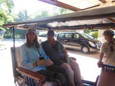 Time to visit Angkor Wat by motorized rickshaws.