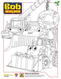 Bob The Builder Holiday Coloring Sheets BobTheBuilder PBSKids