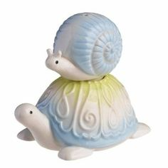 Grasslands Road Stacked Snail Turtle Salt Pepper Shakers by Grasslands Road…