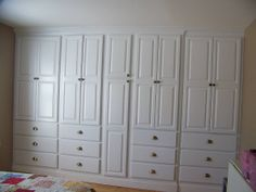 Built in Cabinets for Bedroom | Built in wardrobe cabinet. The customer wanted to eliminate their ...