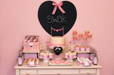 Maybe your gift is the party you plan on throwing this Valentine's day.  If so, take a few hints from this S.W.A.K. party on Amy Atlas' Blog.