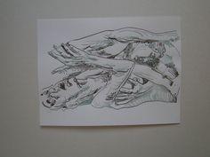book illustrations Mädchen sind die weiche Hand Gottes - wenn er eine schwache Stunde hat. Copyright by Wulf von Appen Federzeichnung / 26.12.2o11