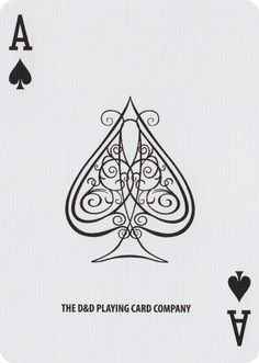 The Ace of Spades from Fulton's Clip Joint Playing Cards