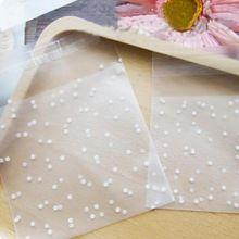 100ks White Dots Transparent Matné OPP Plastic vianočný darček vrece Birthday Party Svadba Cookie Candy Packaging bag 4 veľkosti (Čína (pevninská časť))