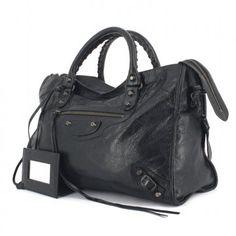 Balenciaga sac City en cuir noir