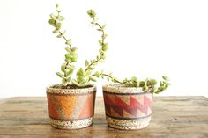 Kat and Roger Ceramic Planter Small