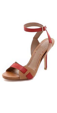 Two-tone leather sandals. By Elizabeth and James.