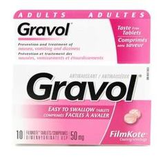 Gravol Easy to Swallow Tablets - Gravol Easy to Swallow Filmkote Tablets have a unique coating, which makes them easy to swallow with Dizziness And Vomiting, Chronic Lung Disease, Swallow, Travel Essentials, Breastfeeding, Health And Beauty, Drugs, Acting, Alcoholic Drinks
