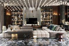 Modern interior design – Home Decor Interior Designs Elegant Home Decor, Luxury Home Decor, Luxury Interior Design, Luxury Homes, Design Living Room, Living Room Interior, Glamour Living Room, Living Rooms, Luxury Sofa