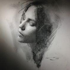 charcoal drawing Casey Baugh Fine Art