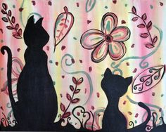 Paint Nite - Two Cats in Fall