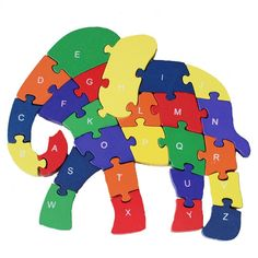 Amazon.com: DOUYYE Counting Elephant Wooden Letters and Numbers Jigsaw Puzzles, Family Game for Kids,Interactive Educational Toys for 3 4 5 Years Old and Up Toddler Boys Girls Preschool Children, Birthday Gift: Toys & Games