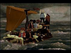 """année 2000 lorsque Richard Unglik se réveille avec une drôle d'image en tête : le tableau de Théodore Géricault """"Le Radeau de la Méduse"""" dans lequel des Playmobil ont remplacé les personnages initiaux. De cette vision va naître un projet qui va bouleverser sa vie artistique."""