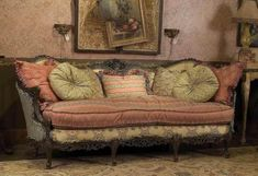 "carol hicks bolton furnishings | Frou Frou"" pastel & chintz shabby chic sofa from Victorian Trading Co ..."