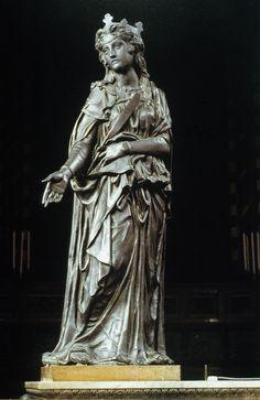 St. Giustina ~Donatello circa 1447 154 cm Basilica del Santo, Padua, Veneto, Italy