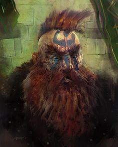 m Dwarf Barbarian portrait