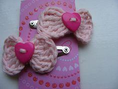 Crochet hair clips x 2 £1.50