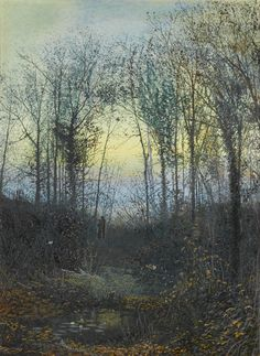 Lovers In A Woodland Clearing, 1871, John Atkinson Grimshaw.