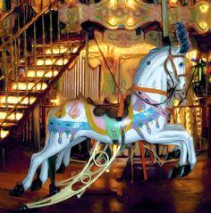 Carousel Horse Photograph