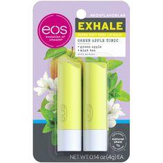 Eos Lip Balm Set, Eos Flavors, Apple Mint, Apple Fruit, Just Juice, Pyrus, Peppermint Leaves, Olive Fruit, Dry Lips