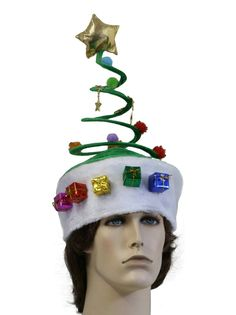 a28295ff293f7f Christmas Tree Hat, Tacky Christmas Party, Mens Ugly Christmas Sweater, Xmas  Party,