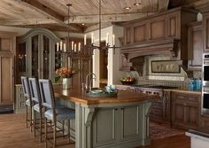 Rustic French style kitchen - expert woodwork