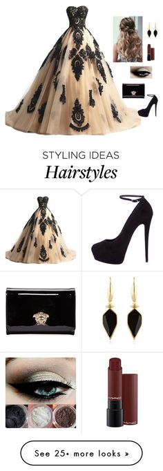 """prom"" by alwateenhosam on Polyvore featuring Giuseppe Zanotti, Versace and Isabel Marant"