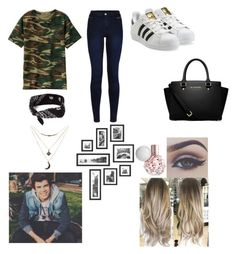 """""""Day with hayes"""" by jacqueline133 ❤ liked on Polyvore featuring Urban Bliss, adidas Originals, MICHAEL Michael Kors, claire's and Charlotte Russe"""
