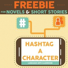 Hashtag a character and have fun! Students use hashtags on social media. With this modern activity, students will hashtag a character - and in the process, analyze that character. It will work for any short story, novel, or play. Included are three FREE activities for using hashtags with a character.