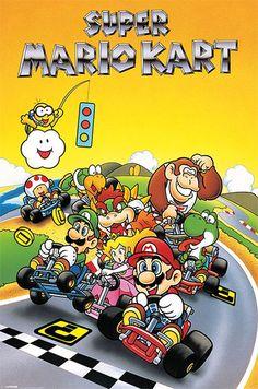 """Super Mario Kart - Retro - 24"""" x 36"""" $9.99"""
