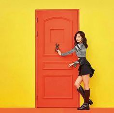 Twice [ Knock-Knock ] - Mina South Korean Girls, Korean Girl Groups, Twice Knock Knock, Twice Korean, Myoui Mina, Tzuyu Twice, Kpop Outfits, Nayeon, News Songs