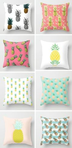 Pinneaple pillows!