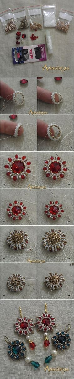 How to make earrings.. Tutorial..