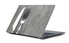 Naklejka na laptopa - Nóż i widelec 4662